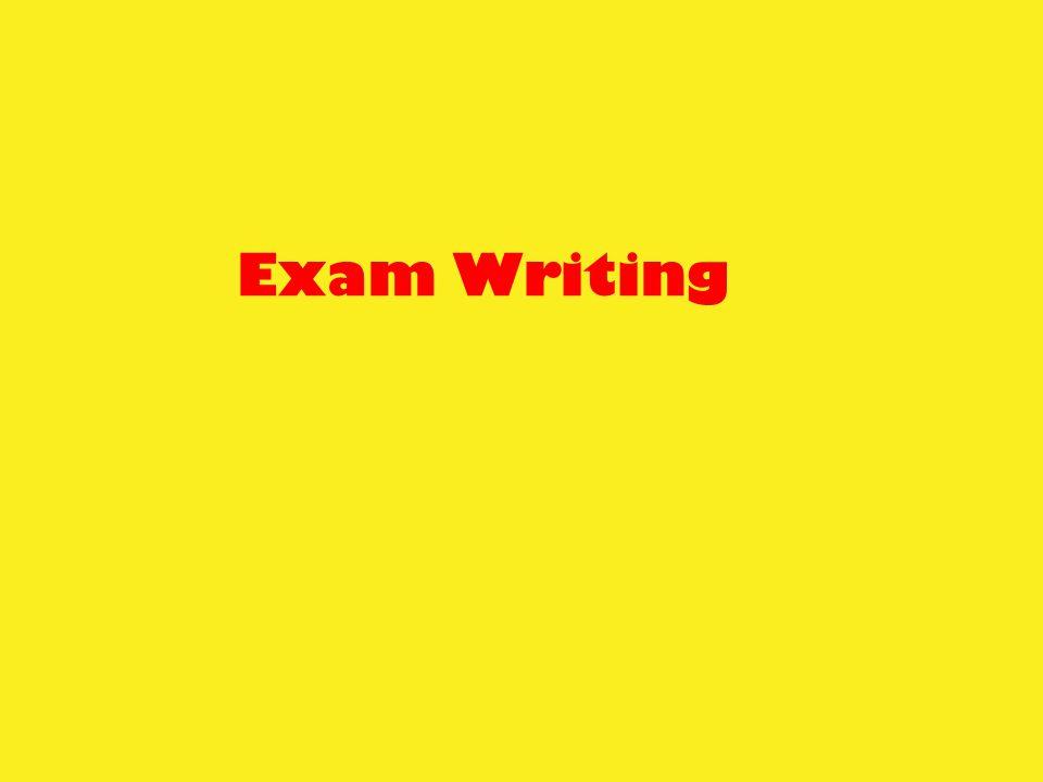 Exam Writing