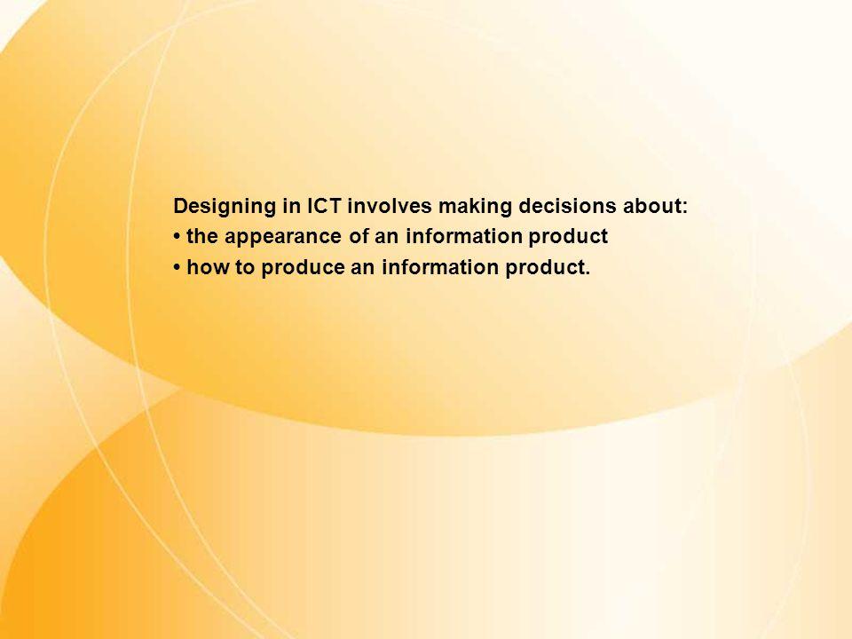 Sample format Design in ICT - Questionnaires
