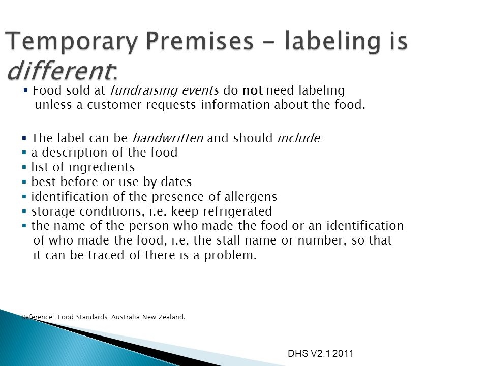  The label must show the key or 'characterising' ingredient.