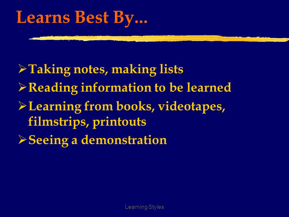 Learning Styles Is Natural At...