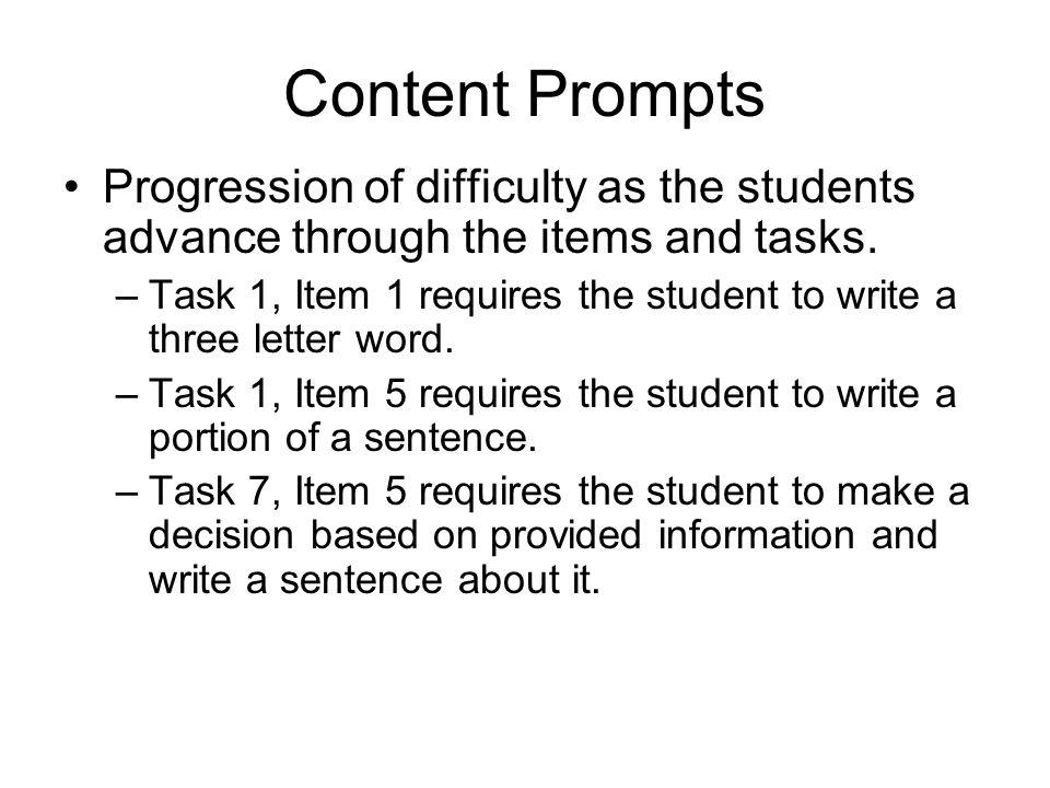 Content Prompts cont.