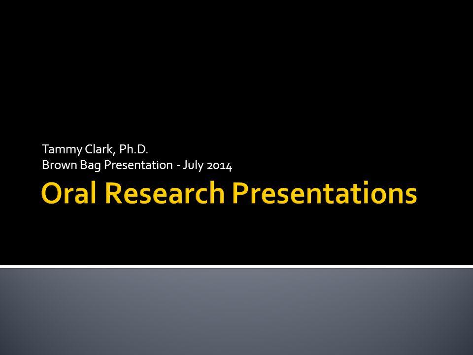 Tammy Clark, Ph.D. Brown Bag Presentation - July 2014