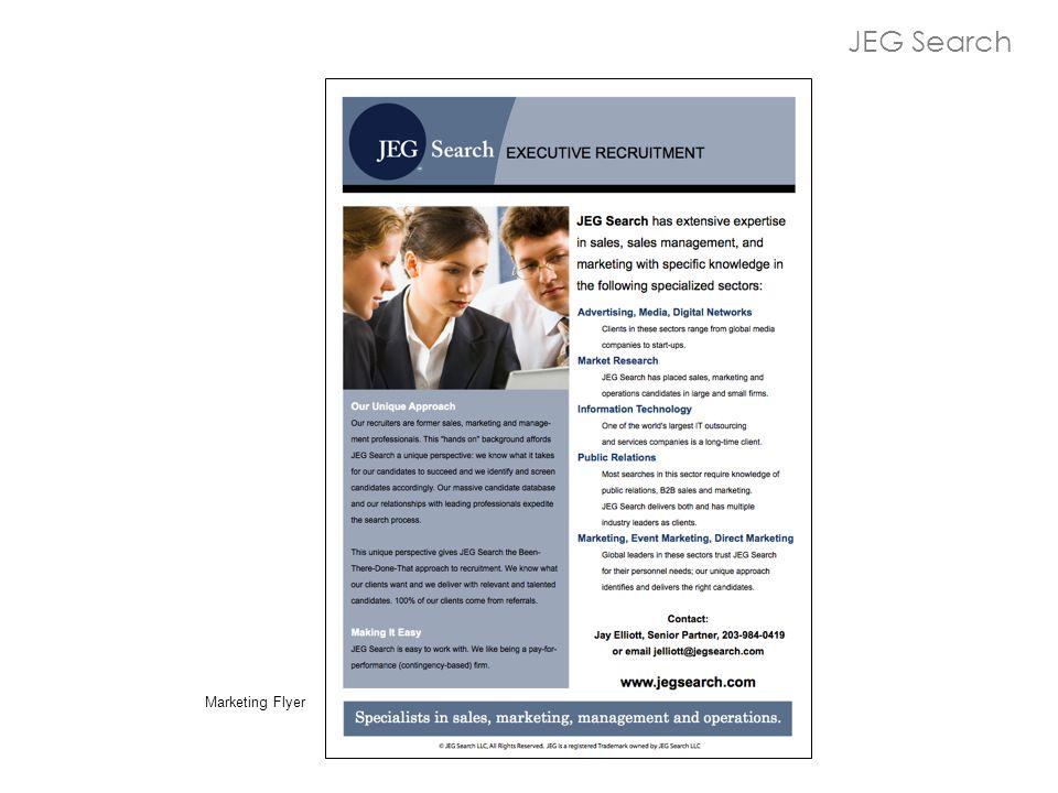 JEG Search Marketing Flyer