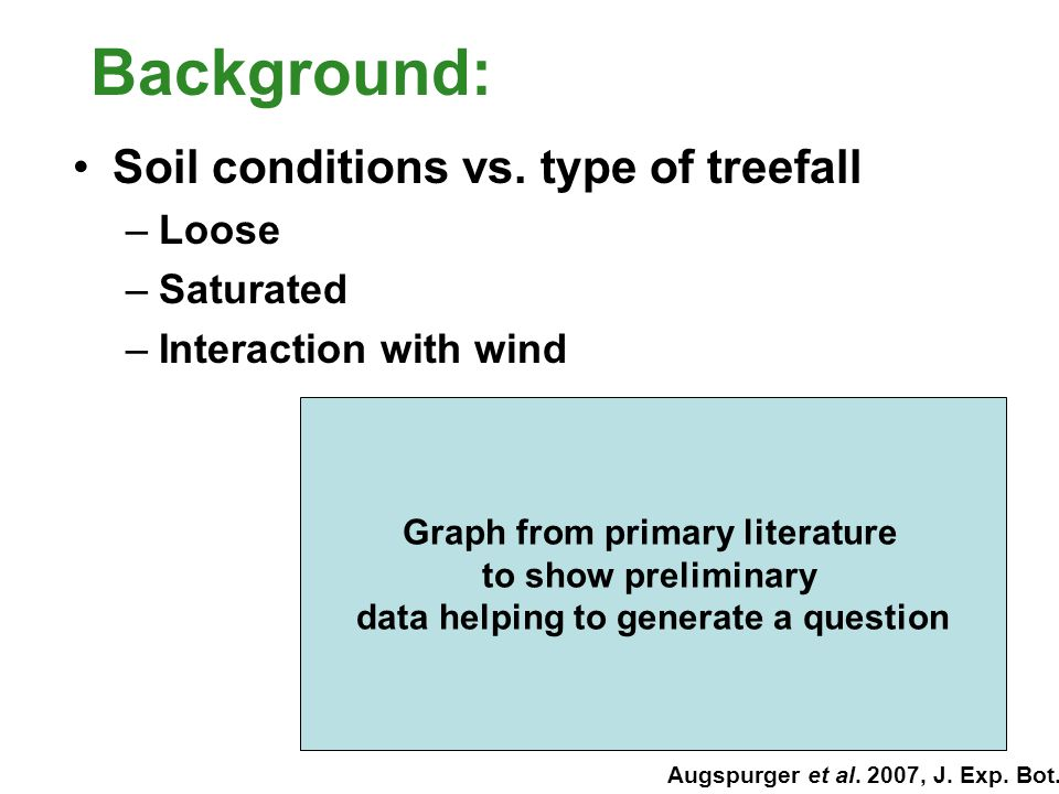 Question: Does variation in soil drainage affect the frequency and mode of treefall?