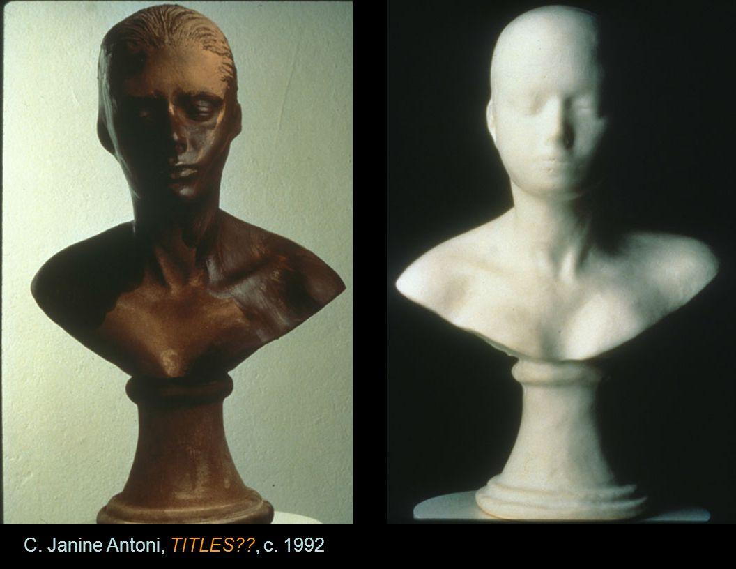C. Janine Antoni, TITLES , c. 1992
