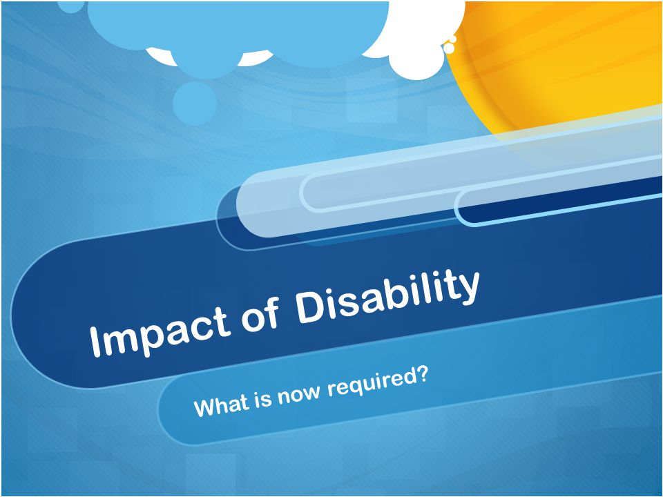 Impact of Disability What are the characteristics of this particular student's disability.