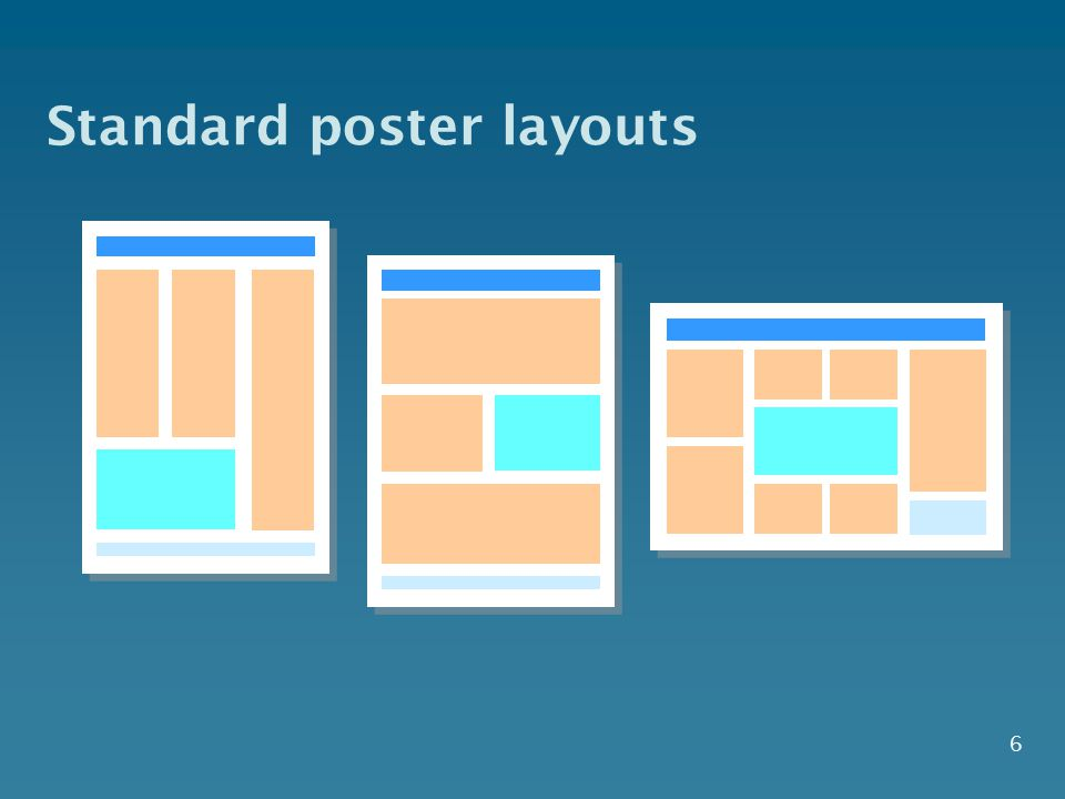 6 Standard poster layouts
