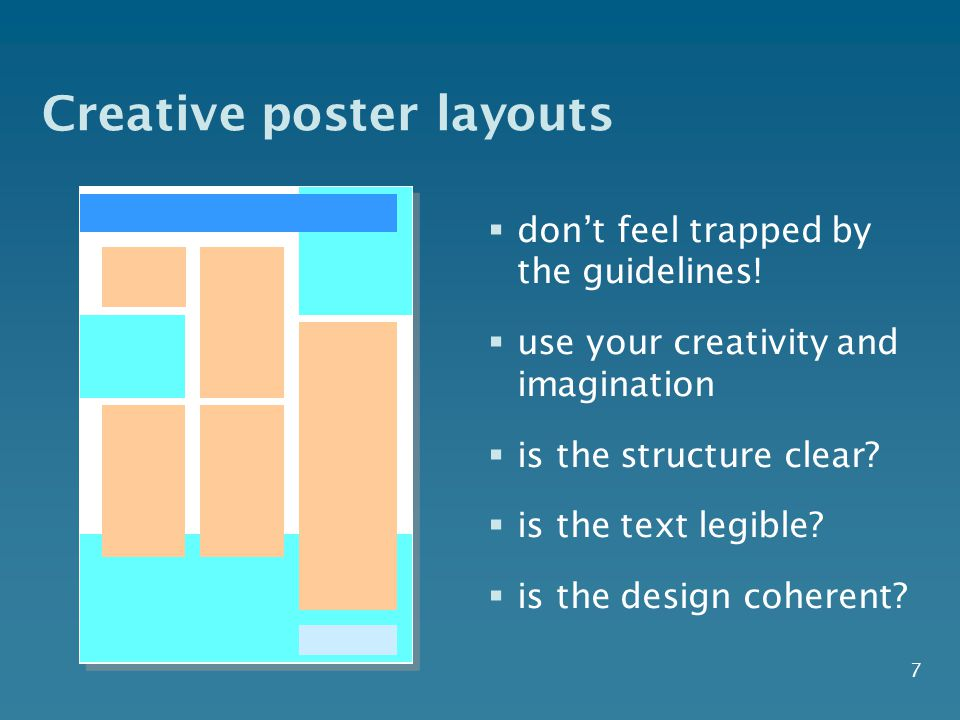 7 Creative poster layouts  don't feel trapped by the guidelines.