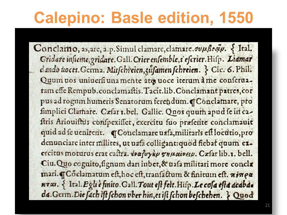 Calepino: Basle edition, 1550 21