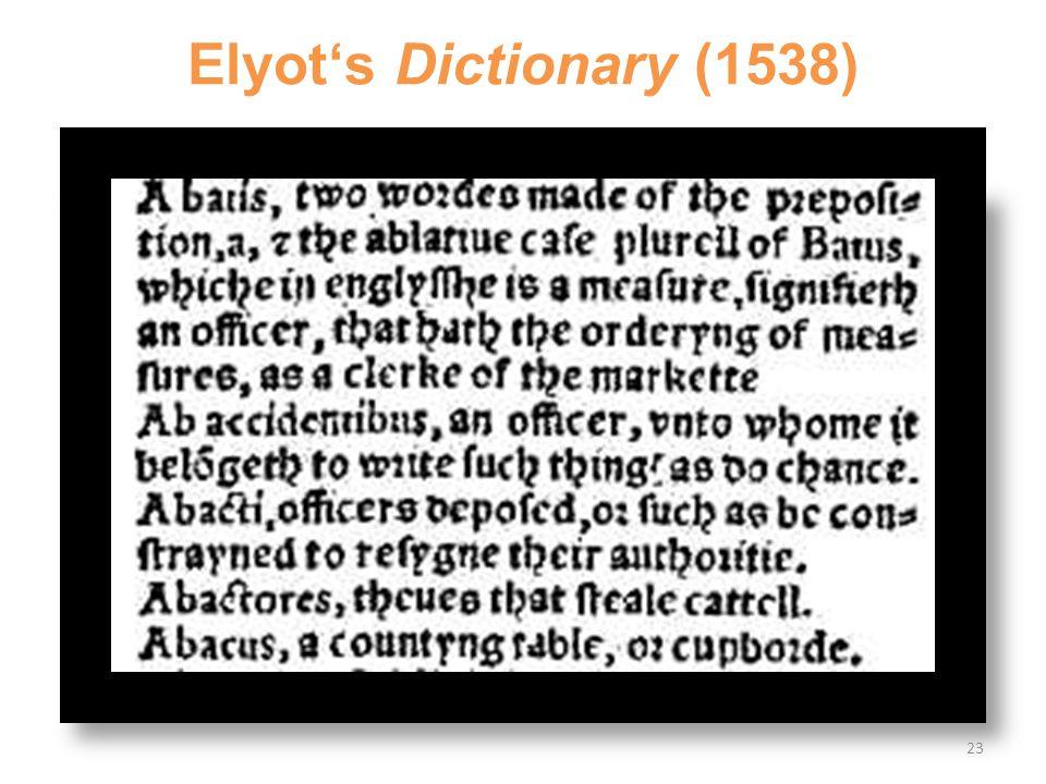 Elyot's Dictionary (1538) 23