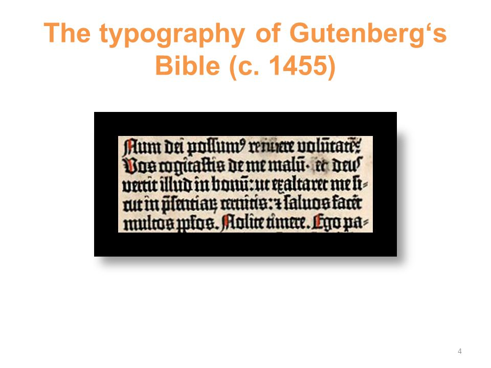 The typography of Gutenberg's Bible (c. 1455) 4