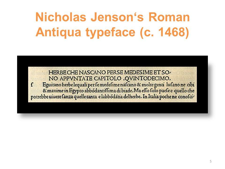 Nicholas Jenson's Roman Antiqua typeface (c. 1468) 5