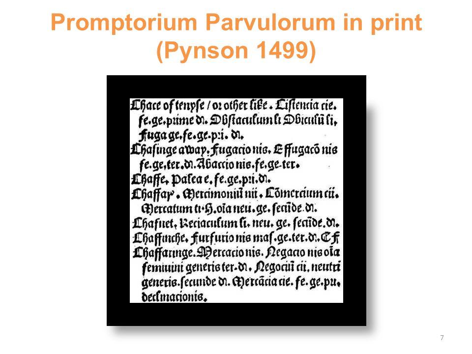 Promptorium Parvulorum in print (Pynson 1499) 7