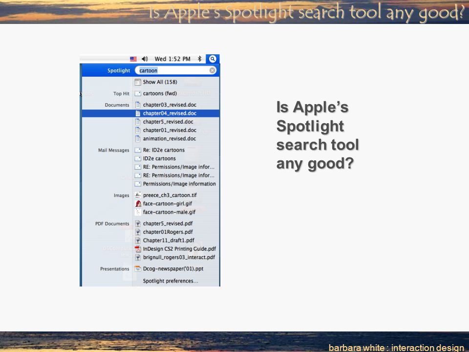 barbara white : interaction design Is Apple's Spotlight search tool any good?