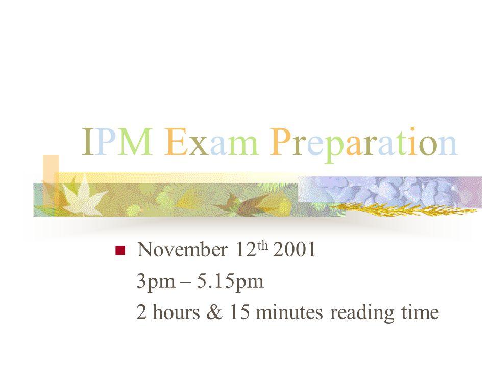 M.Fusinato 2001 The Exam Continually check the clock.