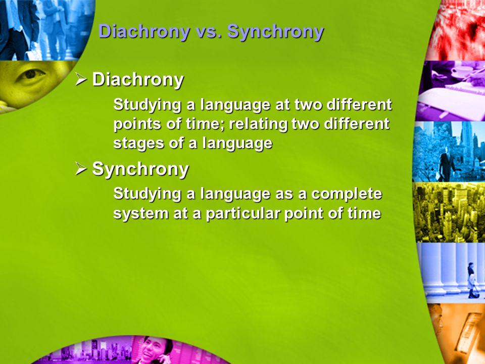 Langue vs.