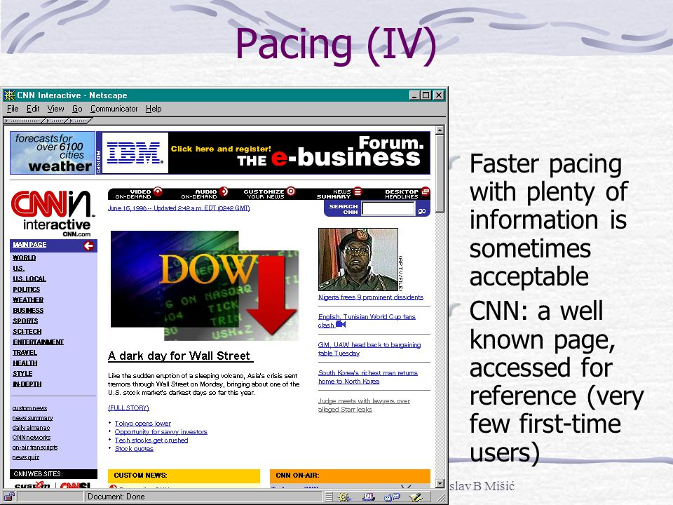 ISMT multimedia Lecture 02 / slide 26 © 2002 Dr Vojislav B Mišić Pacing (III) it might be interesting to note that a later version of the Bitstream ho