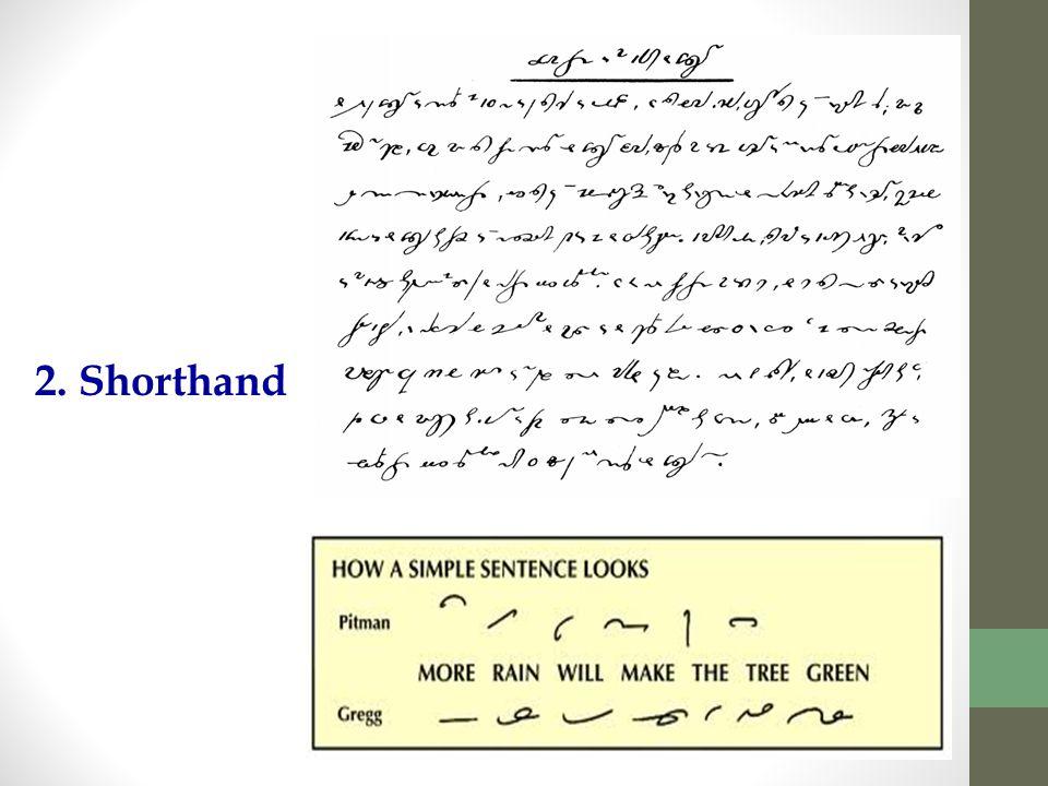 2. Shorthand