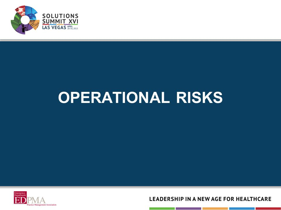OPERATIONAL RISKS