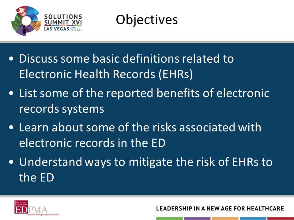 The promise of a better future through EHRs Publicity around medical errors created pressure to adopt EHRs as a solution American Recovery and Reinvestment Act provided $20 Billion for providers and hospitals to meaningfully use EHRs –Extra money now, penalties later End goal of increased safety and health at lower costs