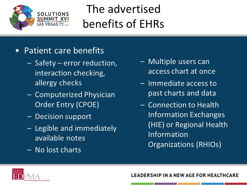 The Final Truth There is no one solution Each organization will make choices that are right for it –May increase risk but deemed worth it Few problems have definitive solutions –Be sure the cure is not worse than the disease Everyone has to work together to address EHR risk