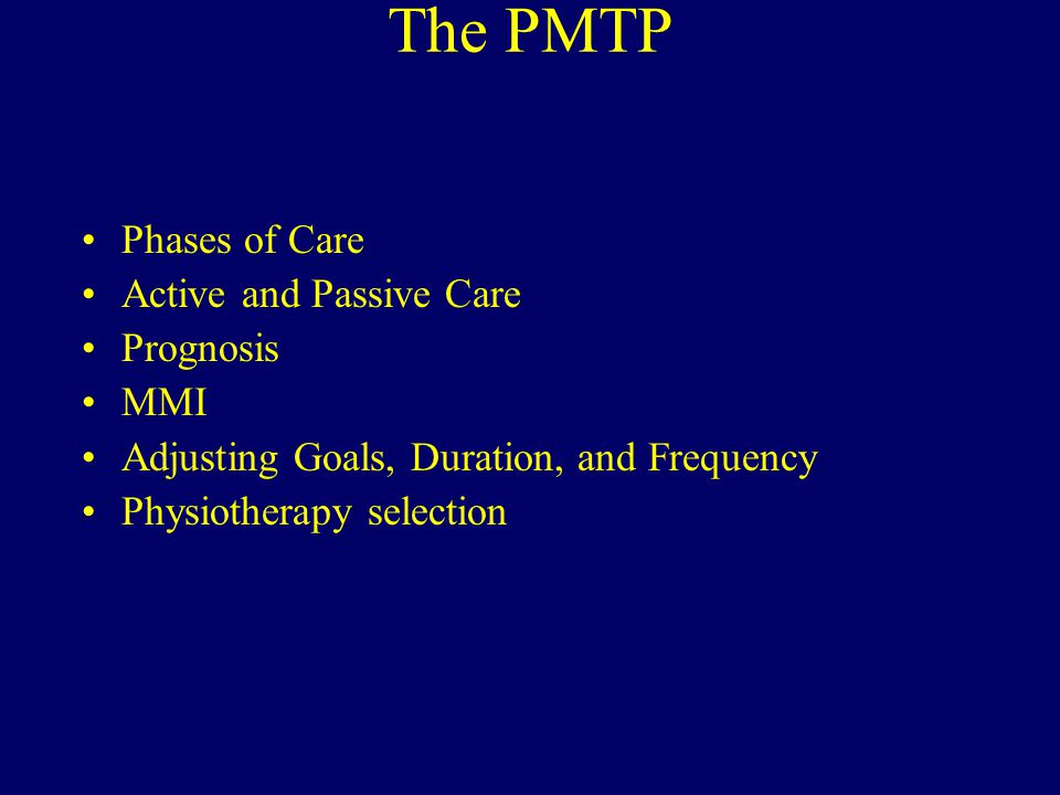 Good Prognosis Example The prognosis is good and is based upon – excellent patient compliance in keeping appointments (11/12 kept) and performing home therapy – reduction in pain scores from 6 to 3, – improvement in the NDI from 42% to 18%, – and substantially improved cervical range of motion.
