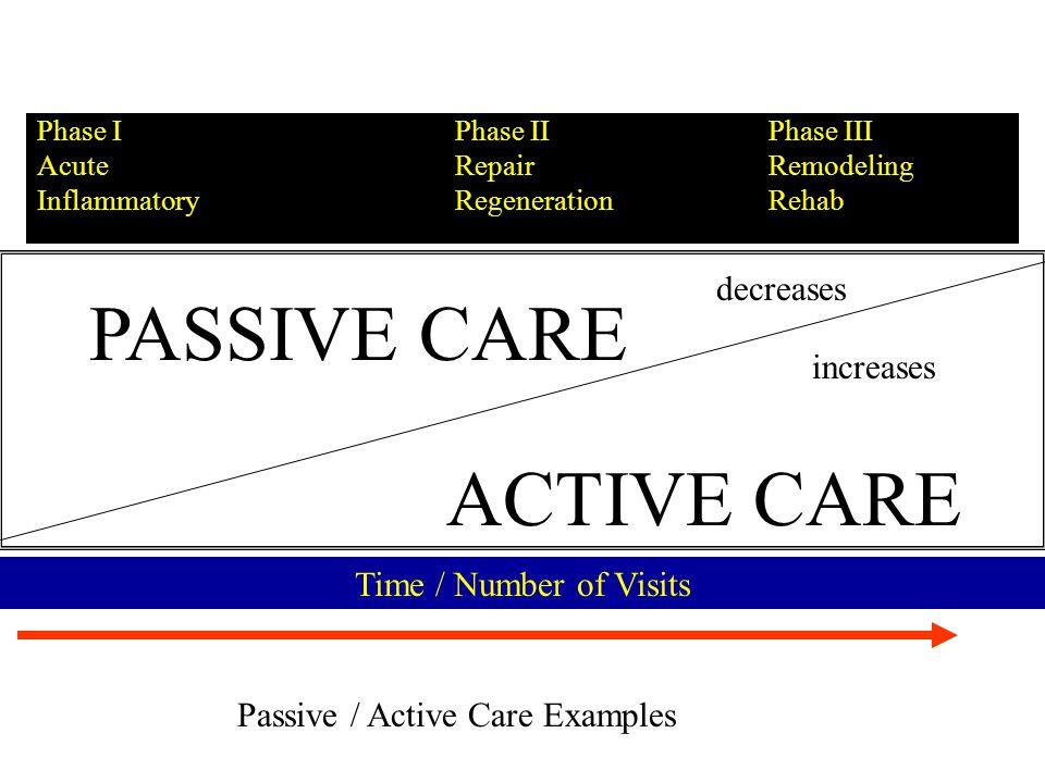 PMTP Example Repair Regeneration Phase II Low back patient –Prognosis –Adjusting goals –Outcome Assessments Treatment plan Treatment goals