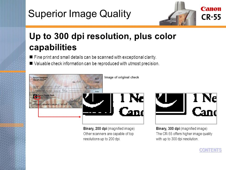 Up to 300 dpi resolution, plus color capabilities Fine print and small details can be scanned with exceptional clarity.