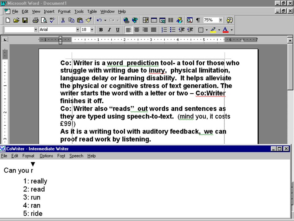 Talking word processors