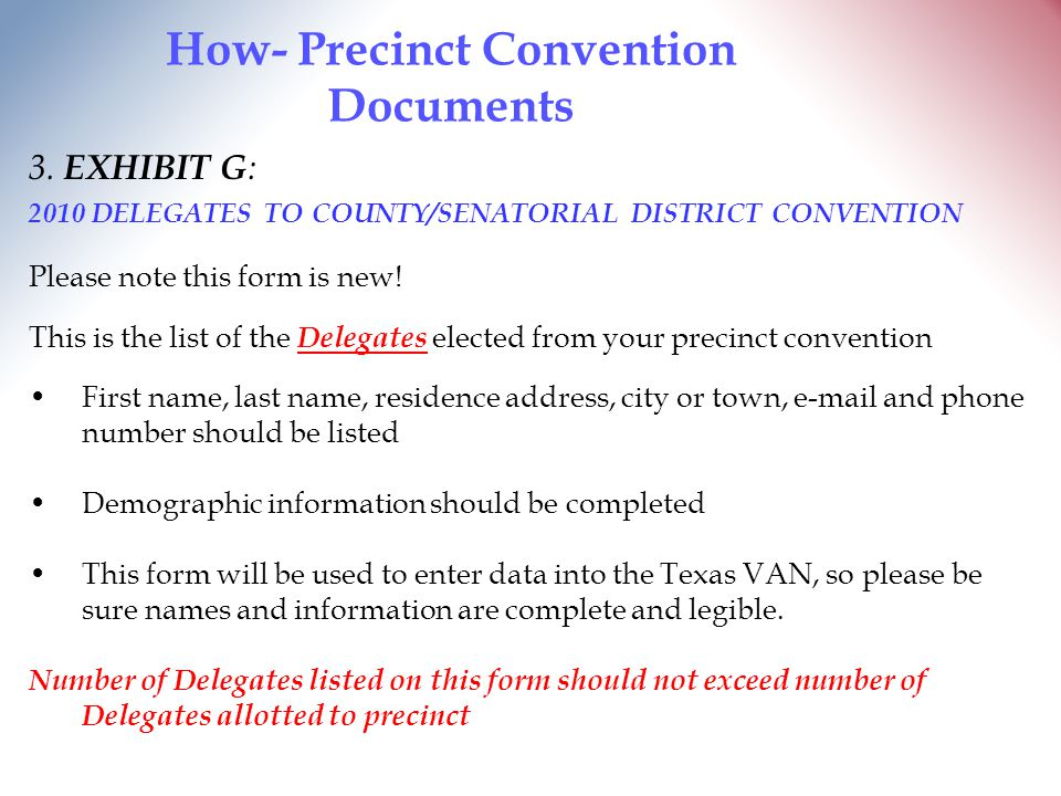 How- Precinct Convention Documents 3.