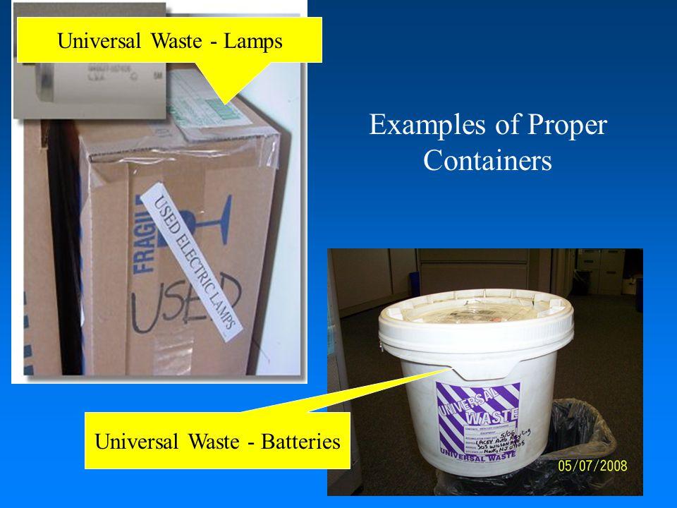Labeling Universal Wastes