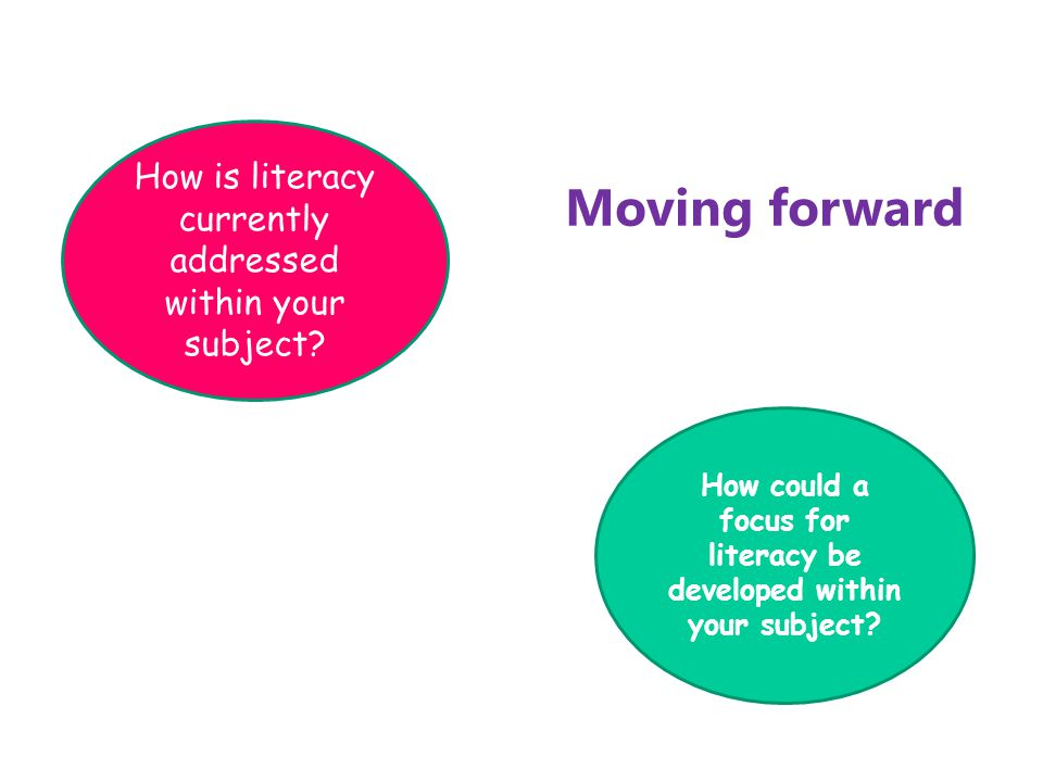 How could a focus for literacy be developed within your subject.