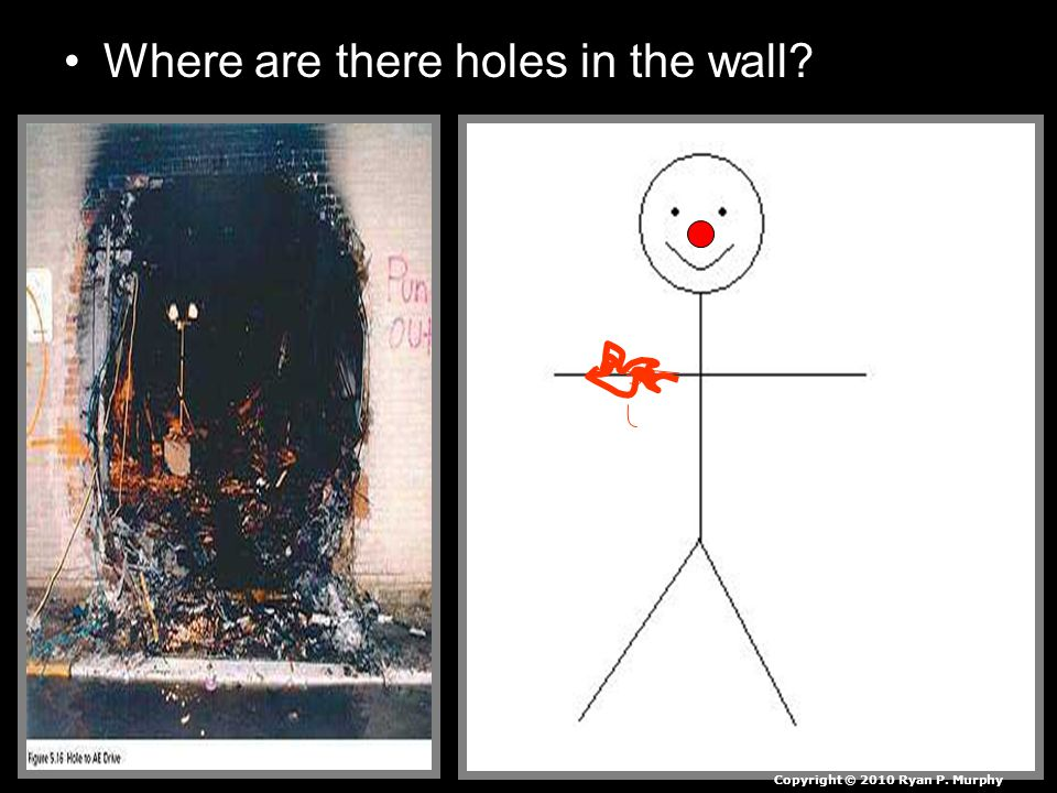 Where are there holes in the wall Copyright © 2010 Ryan P. Murphy