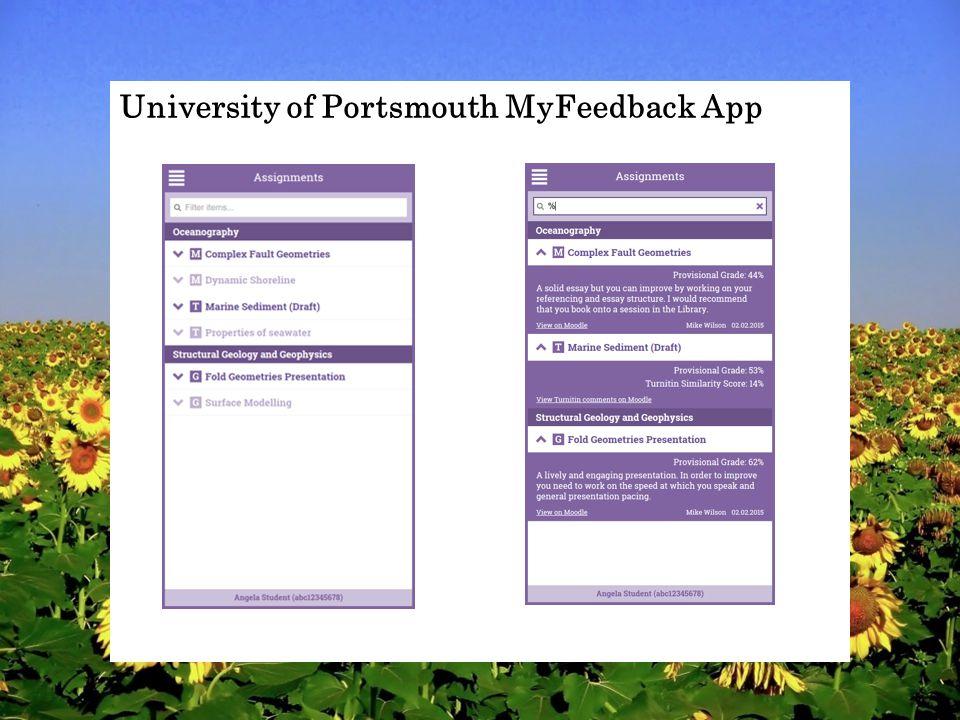 University of Portsmouth MyFeedback App