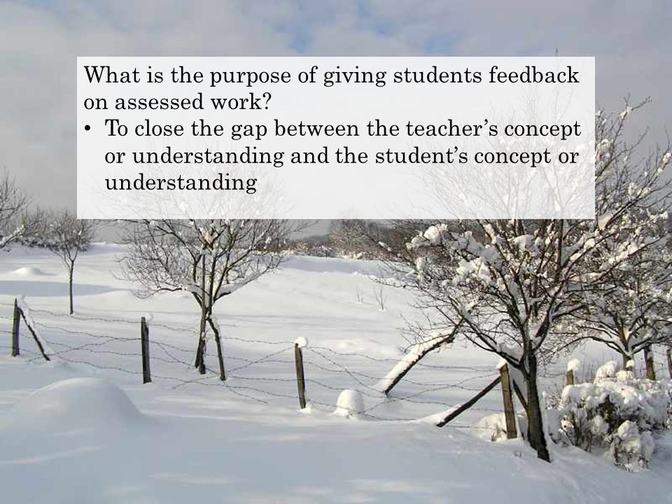 To close the gap between the teacher's concept or understanding and the student's concept or understanding