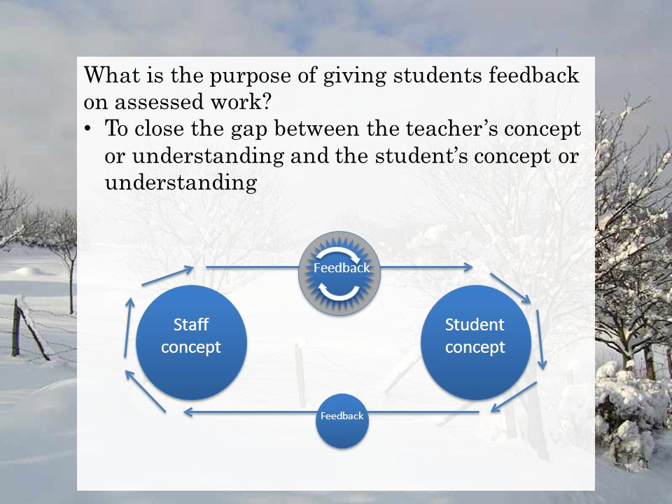 What is the purpose of giving students feedback on assessed work.