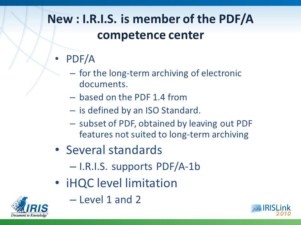 New : I.R.I.S.