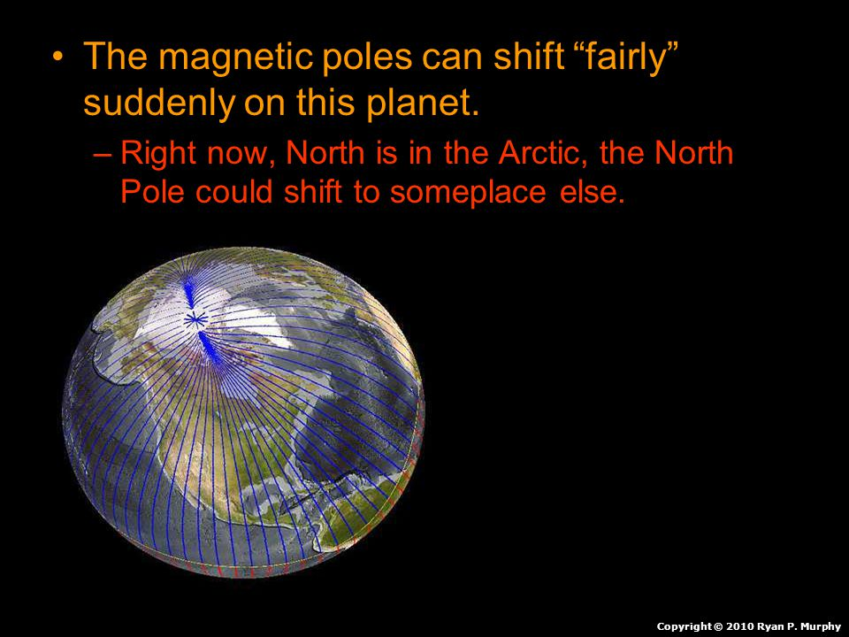 The magnetic poles can shift fairly suddenly on this planet.
