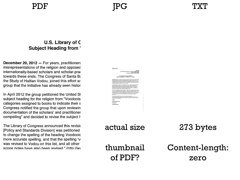 PDFJPGTXT actual size thumbnail of PDF? 273 bytes Content-length: zero