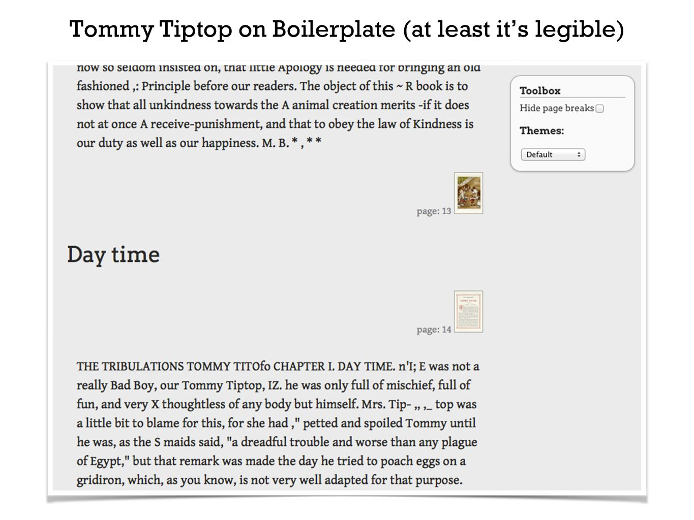 Tommy Tiptop on Boilerplate (at least it's legible)