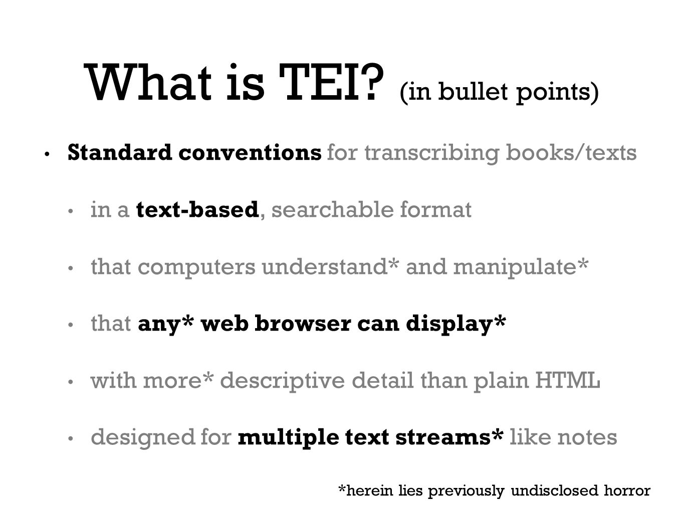 What is TEI.