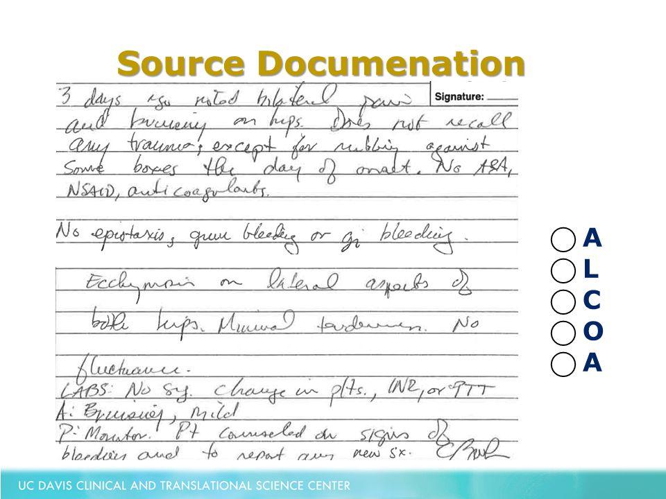 Source Documenation ⃝ A ⃝ L ⃝ C ⃝ O ⃝ A