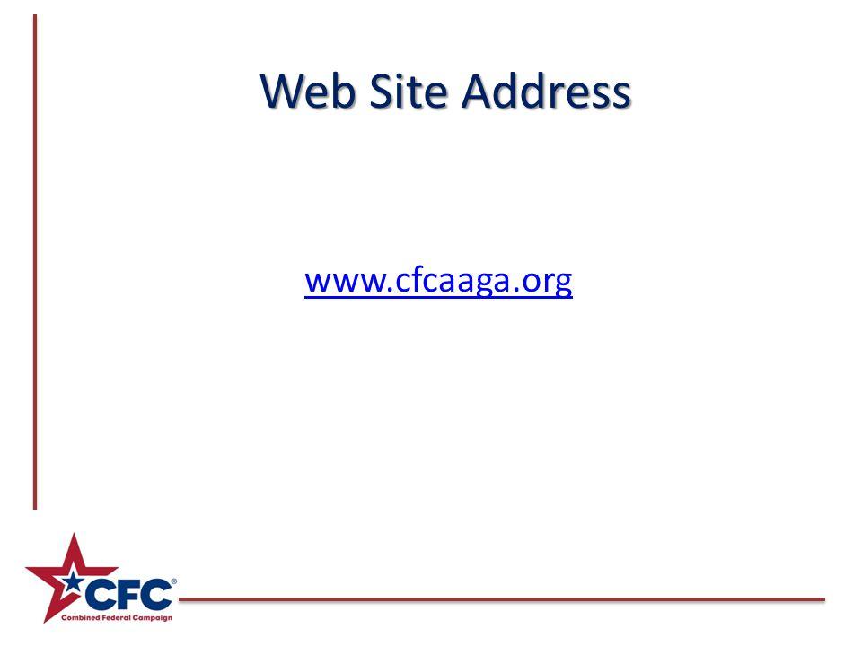 Web Site Address www.cfcaaga.org