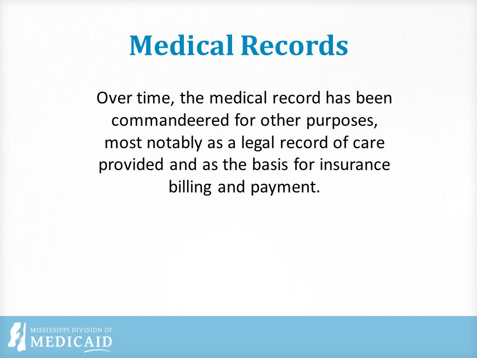 Medical Record Signatures All medical record entries should be signed and dated usually with in 48-72 hours of the encounter, but certainly before the claim is filed Stamped signatures are not allowed The author of the note should be clearly identified Signature should be legible