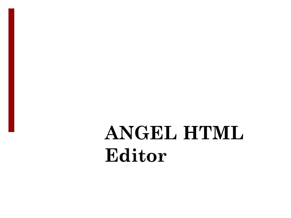 ANGEL HTML Editor