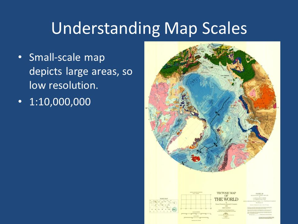 Understanding Map Scales Representations: – verbal (1 map centimeter represents 30,000 ground centimeters) – fraction (1:25,000) – graphic (scale bar)