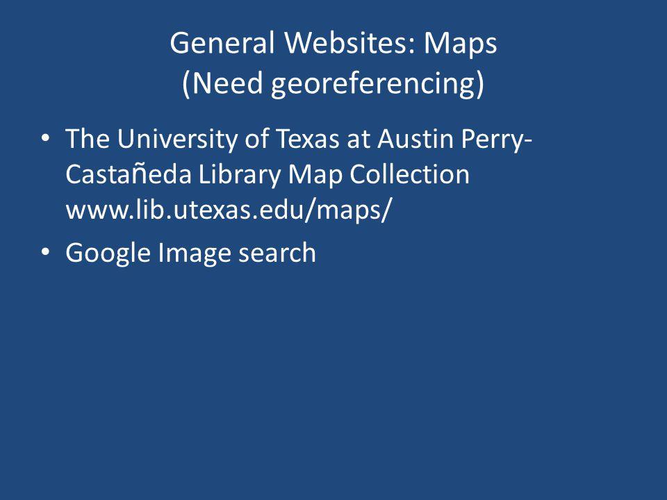 General Websites: Grids (May Need Converting) General Bathymetric Chart of the Oceans (GEBCO) www.gebco.net CGIAR-CSI SRTM Processed NASA satellite to