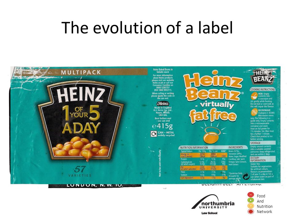 Food And Nutrition Network The evolution of a label