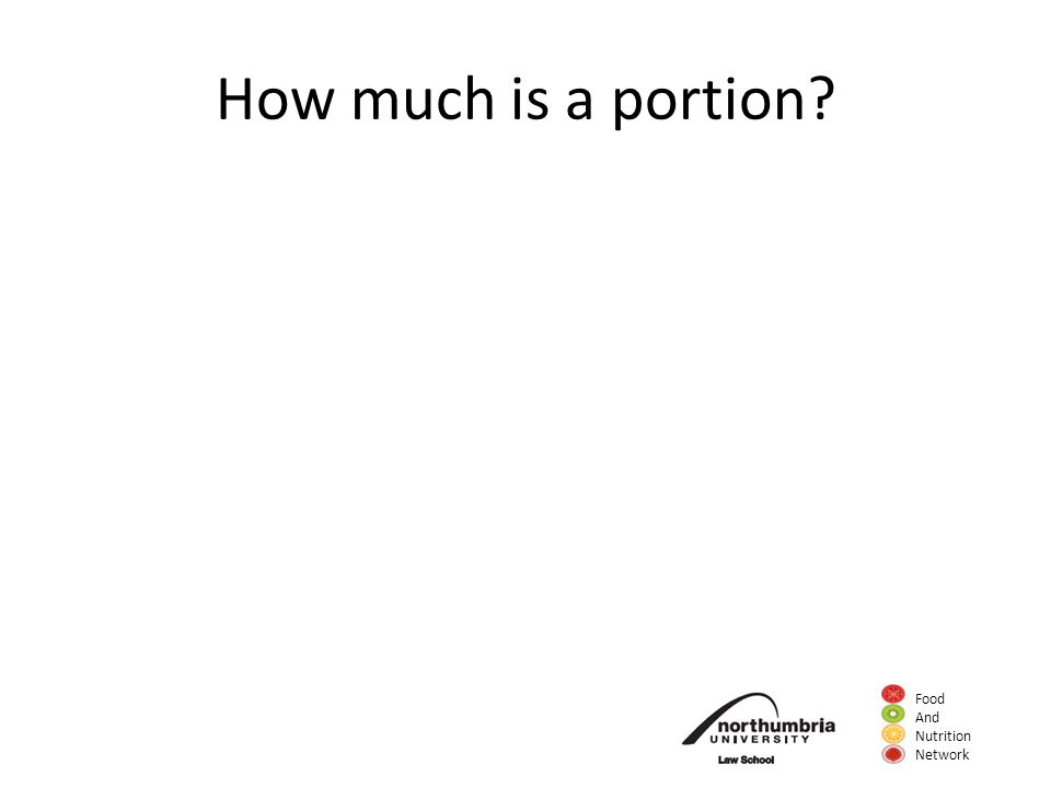 Food And Nutrition Network How much is a portion?