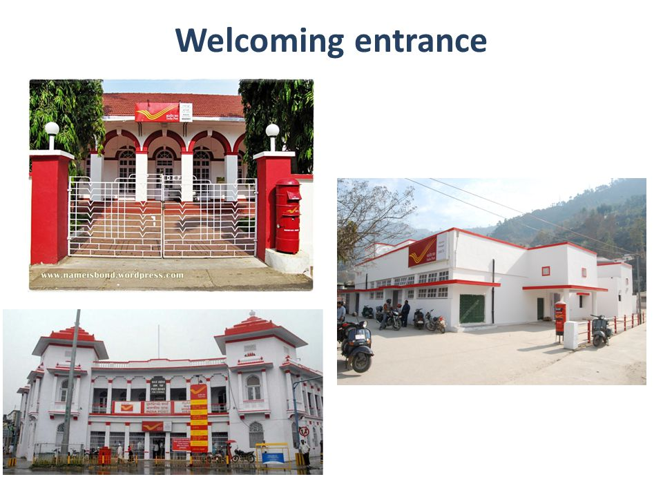 Welcoming entrance